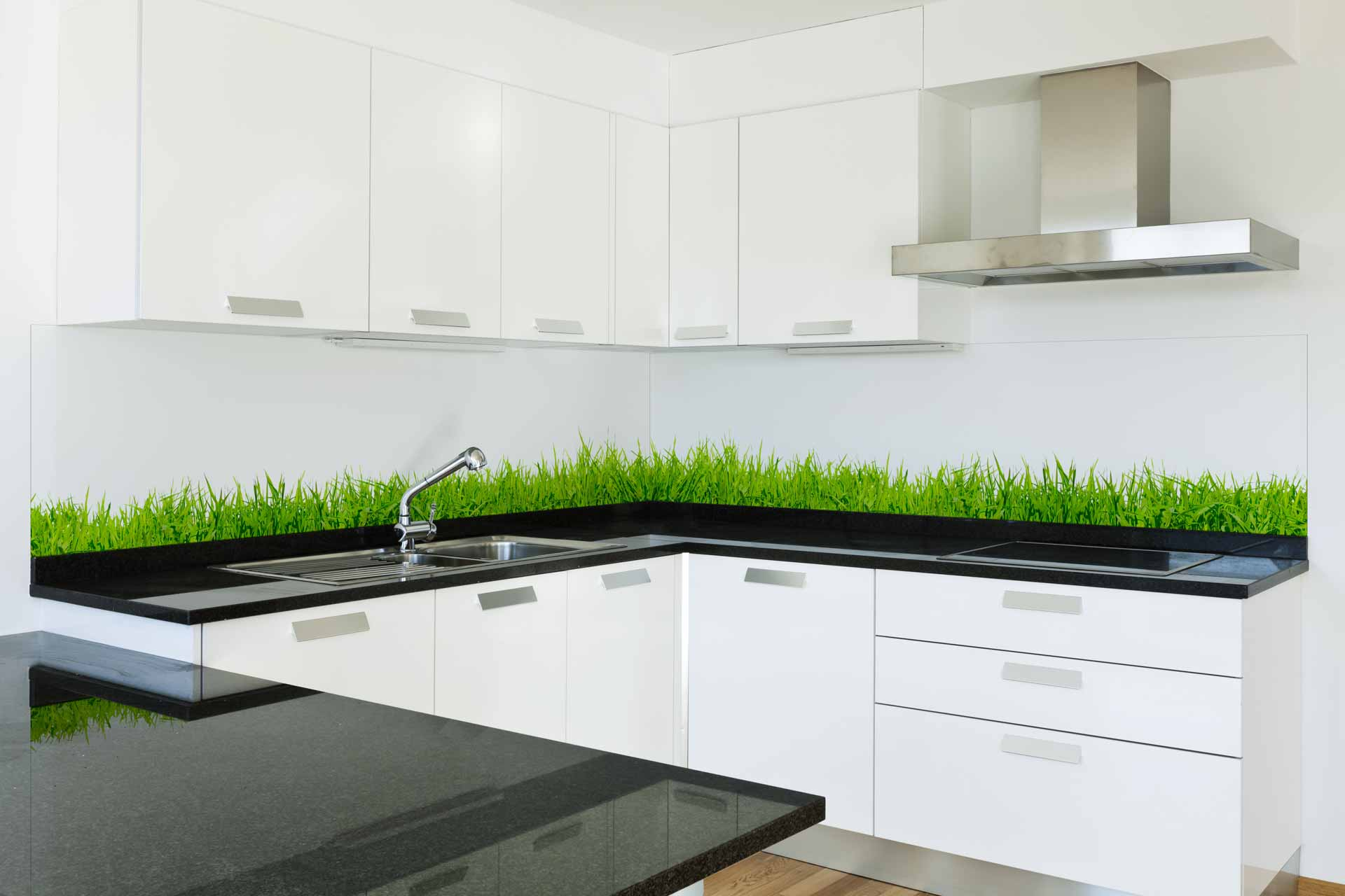 Green Grass kitchen splasback