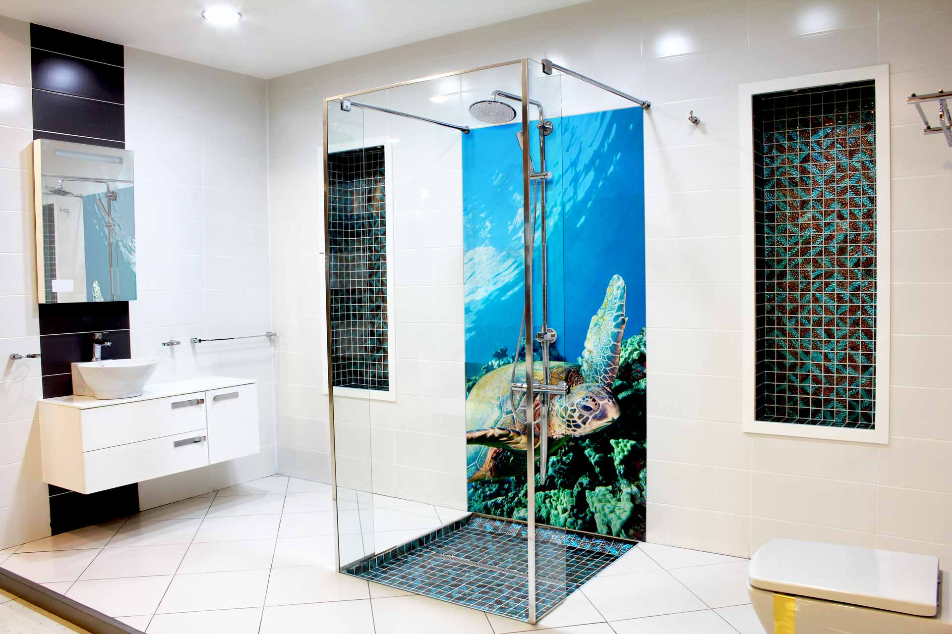 Giant Turtle bathroom tiles