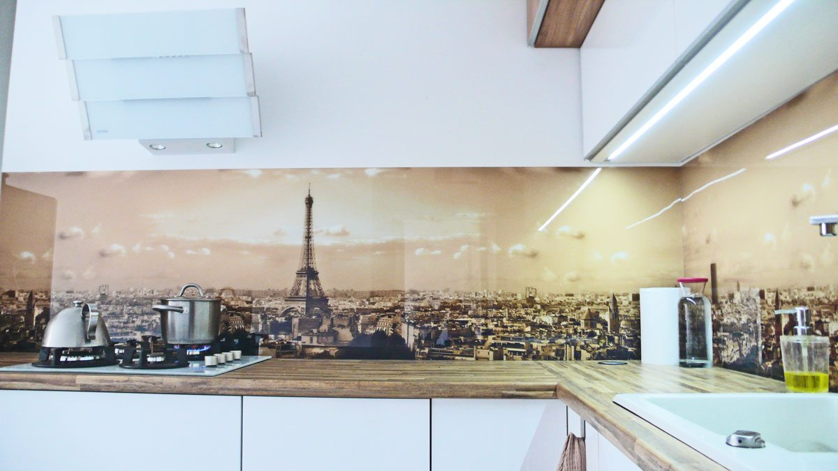 Panoramic Paris kitchen splashback