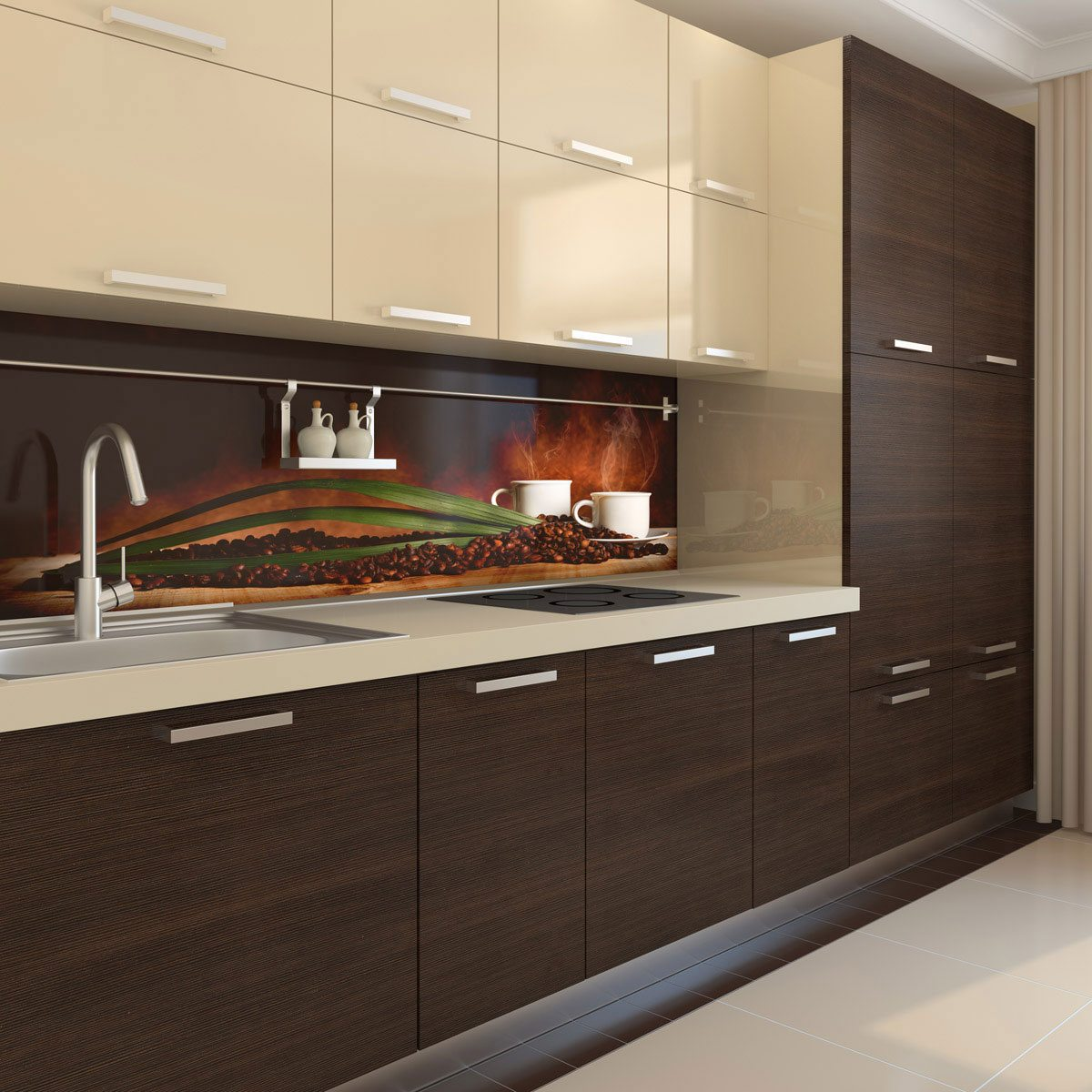 Coffee & Chocolate kitchen splashback