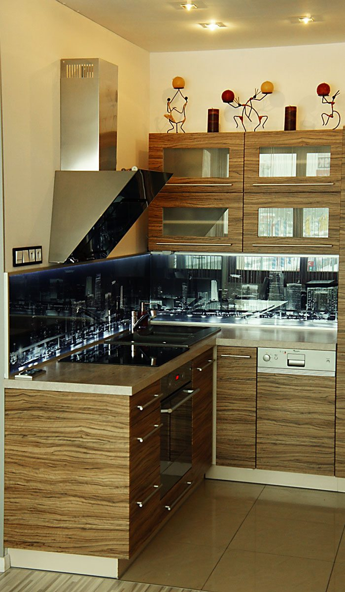 City at Night kitchen LED splashback 3