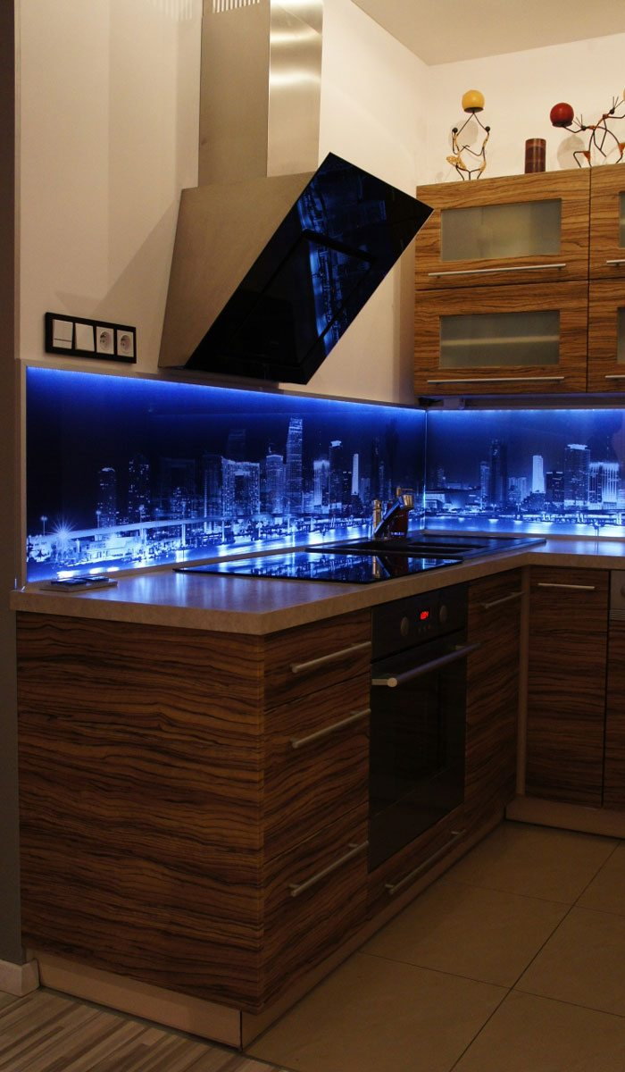 City at Night kitchen LED splashback 2