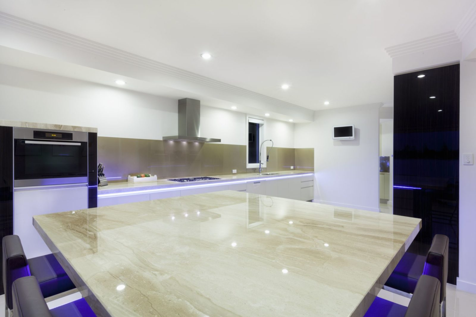 White Glossy kitchen LED lights